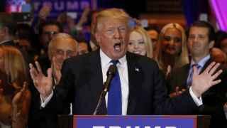 El candidato republicano Donald Trump en Nueva York