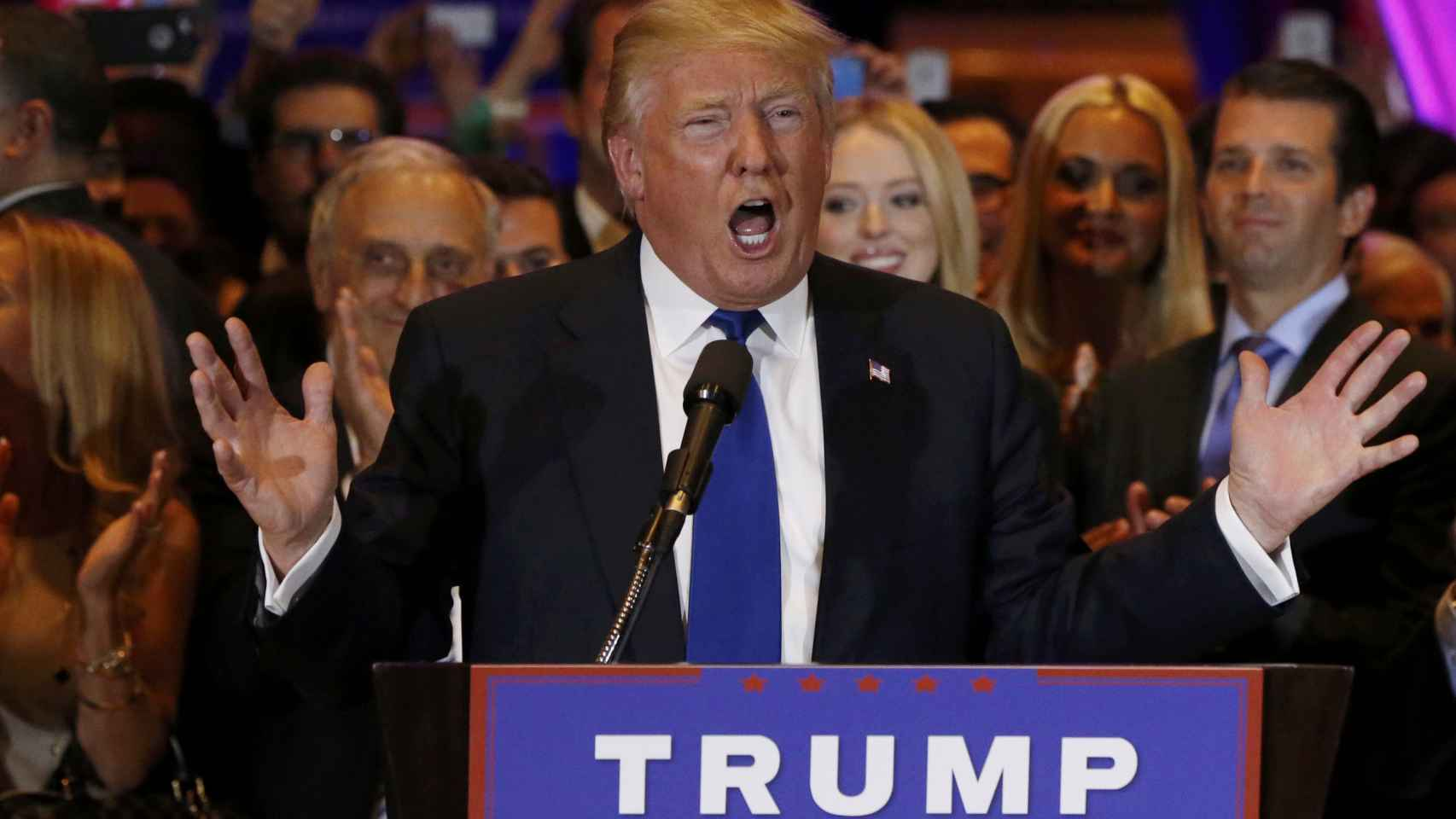 El candidato republicano Donald Trump en Nueva York