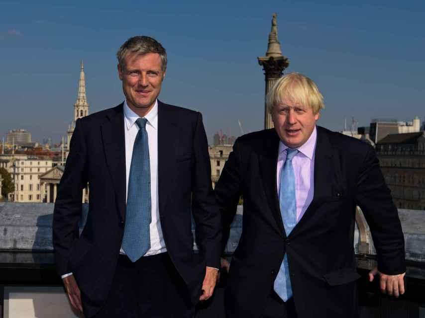 El candidato conservador Zac Goldsmith junto al actual alcalde Boris Johnson.