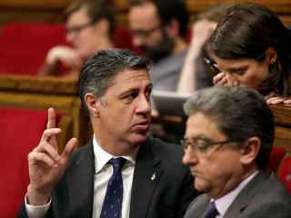 Xavier García Albiol, en la sesión de control al gobierno de ayer.