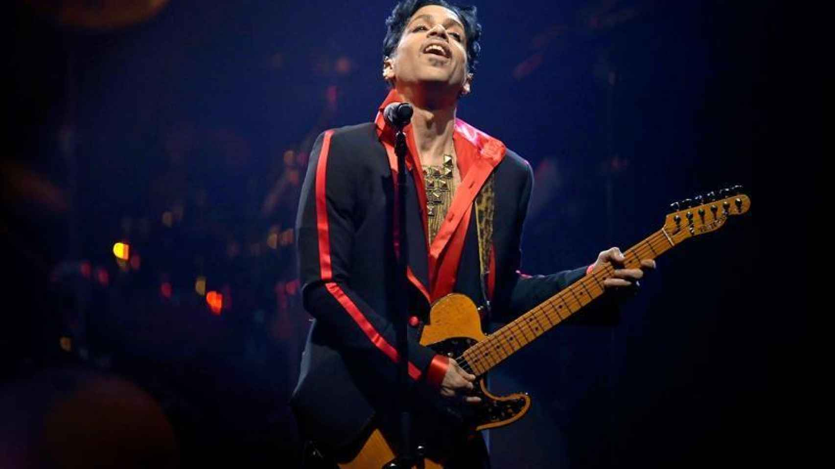 Prince en plena actuación.