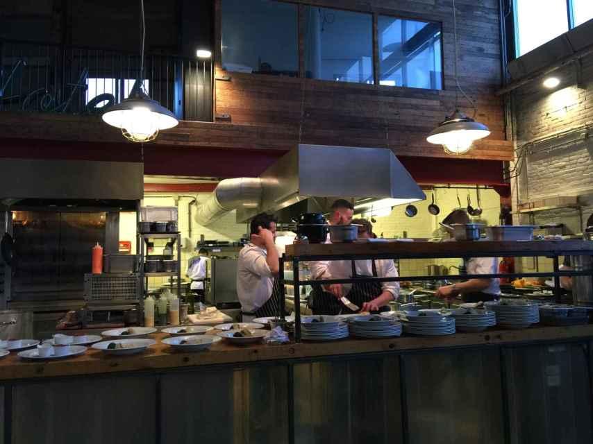 La cocina del restaurante.