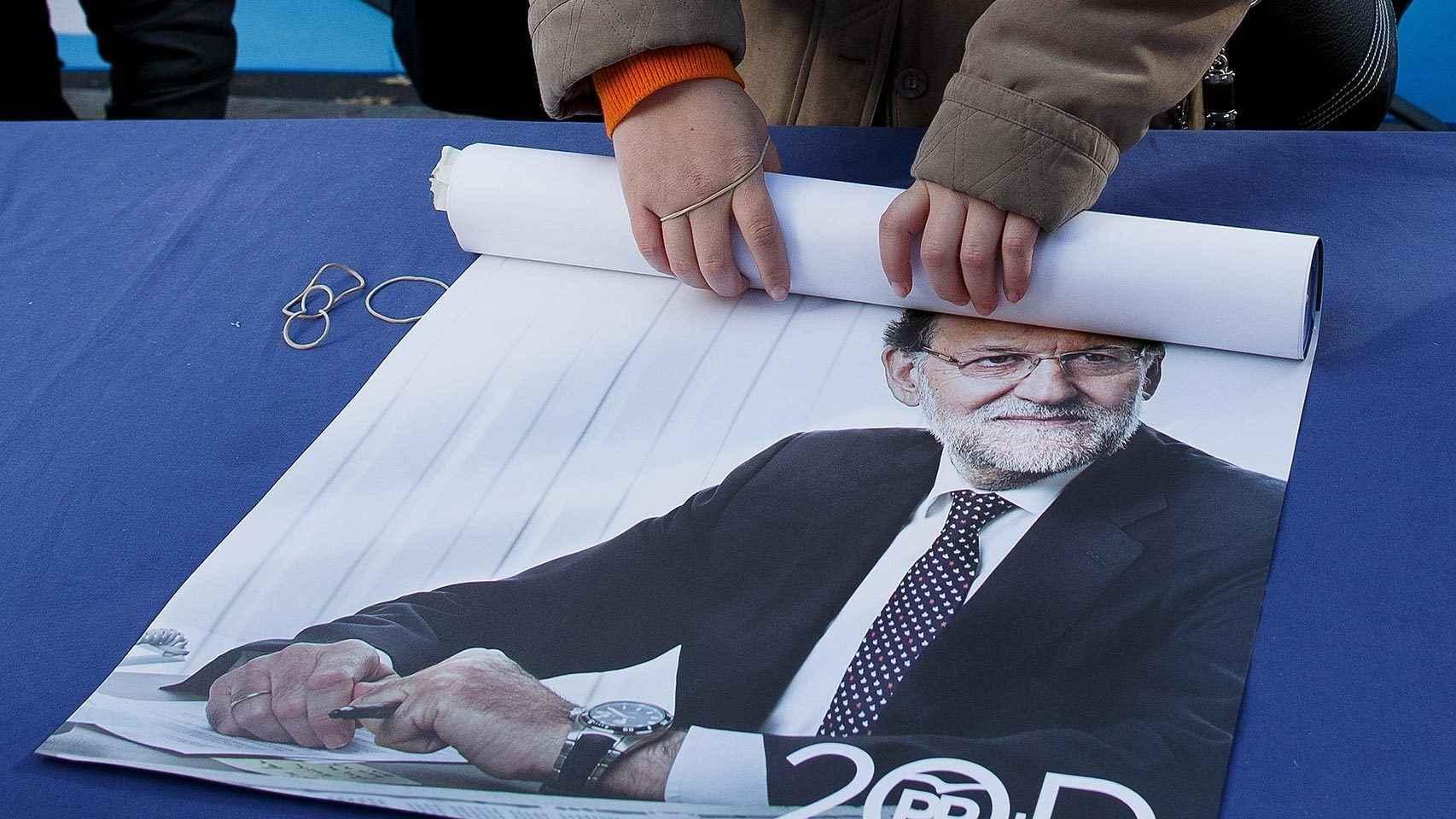 Cartel electoral de Rajoy del 20D.