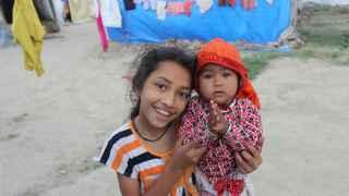 El primer cumpleaños de Pasang, el 'hijo del terremoto'.