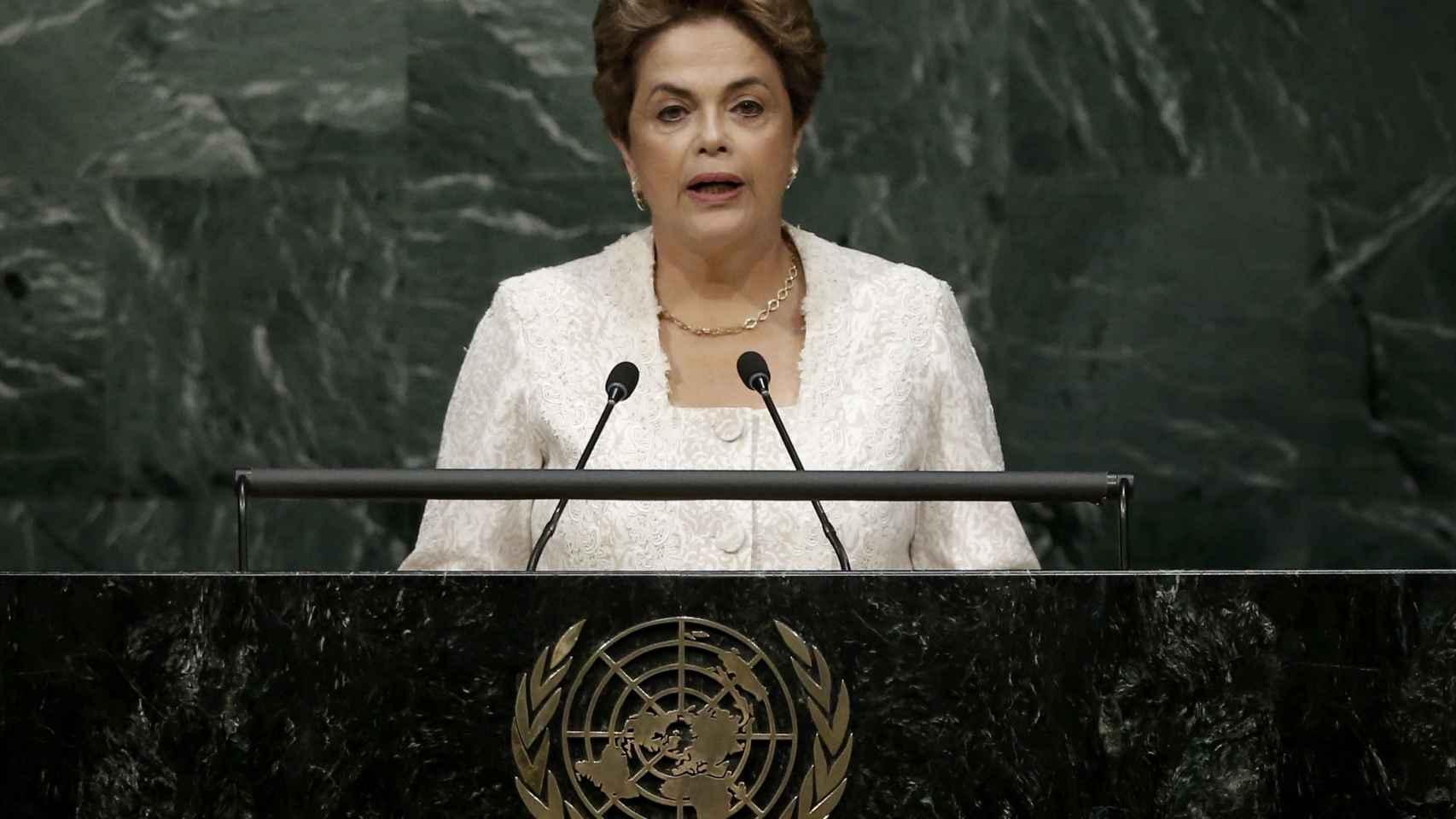 Rousseff habla ante la Asamblea de la ONU.