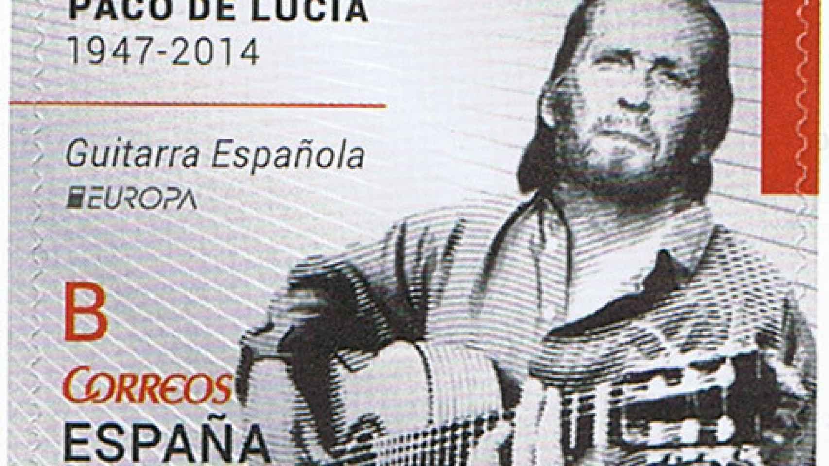 Sello homenaje a Paco de Lucía