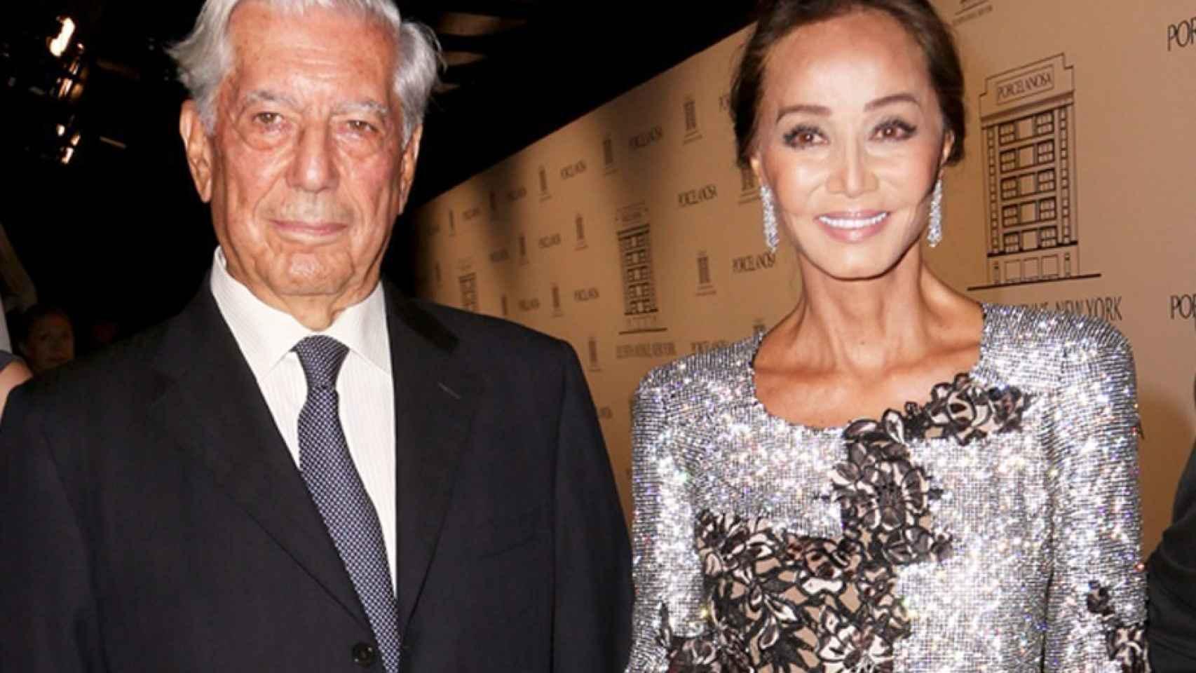 Vargas Llosa y Preysler en la inauguración de la tienda en Nueva York