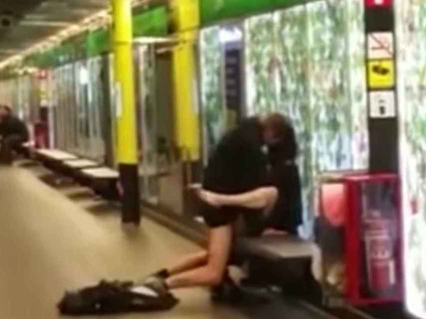 Un pantallazo del vídeo que circula por la Red.