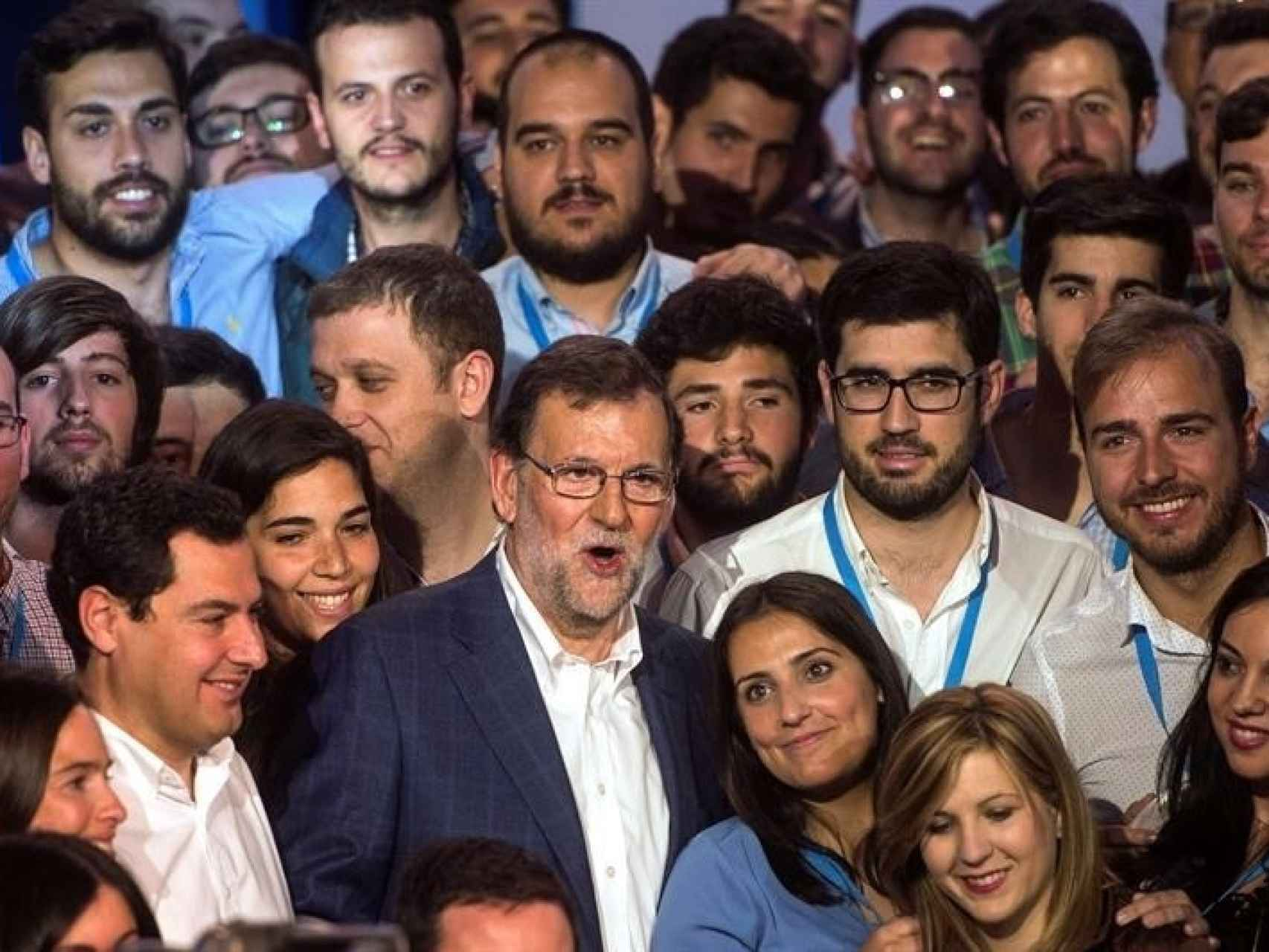 Mariano Rajoy, en la convención de Nuevas Generaciones/Rafa Alcaide/EFE