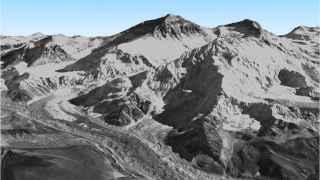 El Everest como se ve en el nuevo mapa 3D.