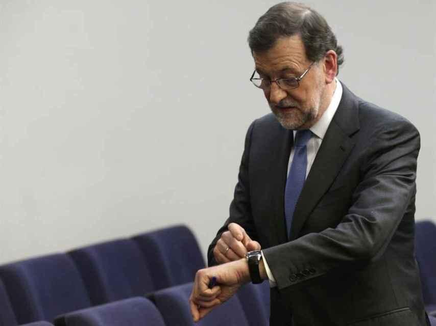 Rajoy, tras finalizar la rueda de prensa.