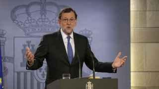 Rajoy, tras la comparecencia ante el rey.