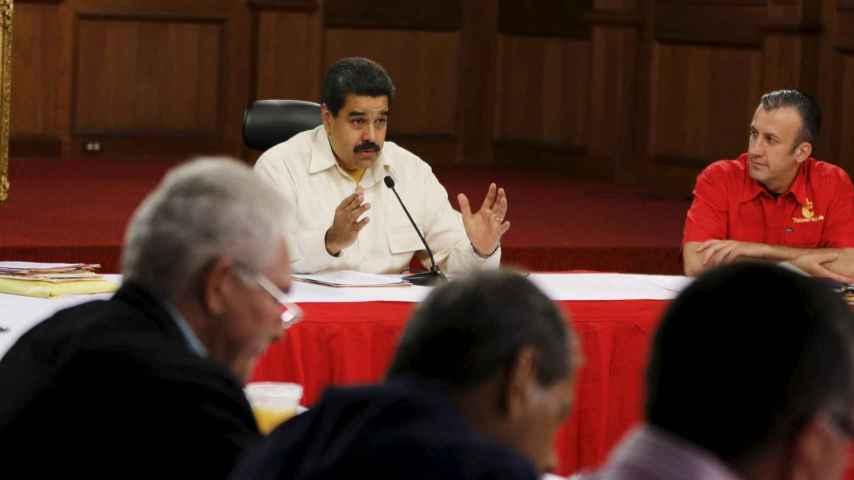 El presidente venezolano, Nicolás Maduro, durante un discurso este martes