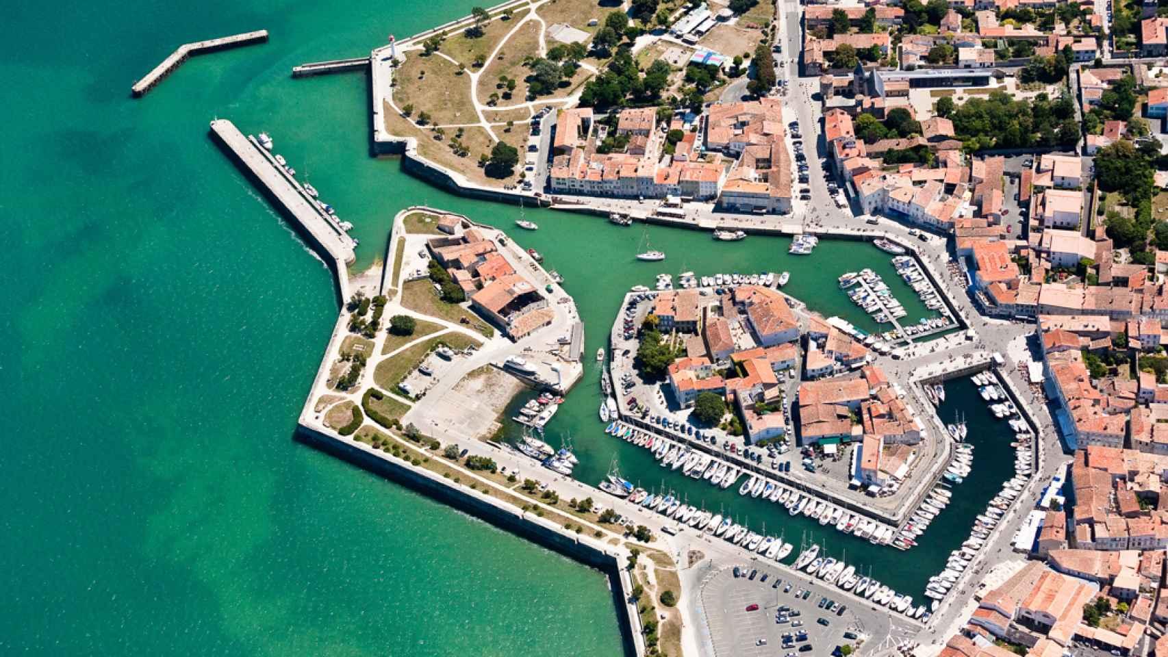 Imagen aérea de la Isla de Ré.