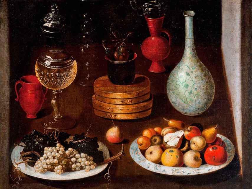 Bodegón con búcaros. Anónimo madrileño, 1625.