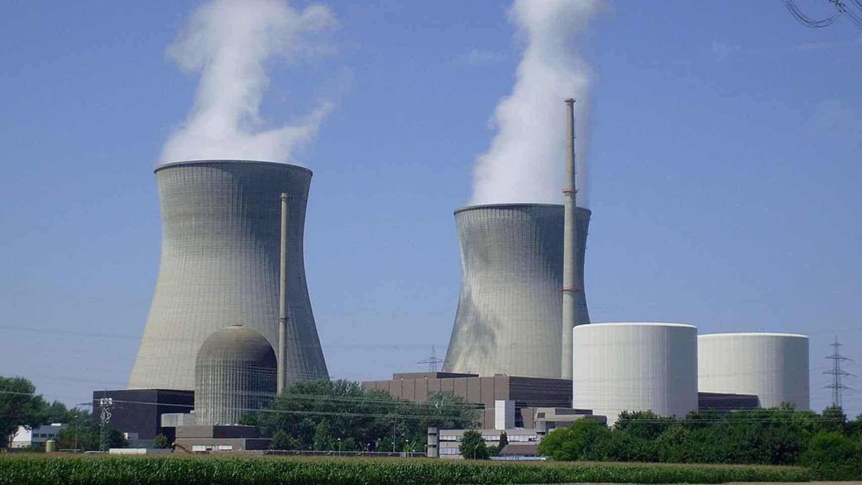 Imagen de la central nuclear de Gundremmingen, en Alemania.