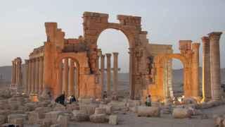 El templo de Ball Shamin, ahora totalmente destruido en la ciudad de Palmira.