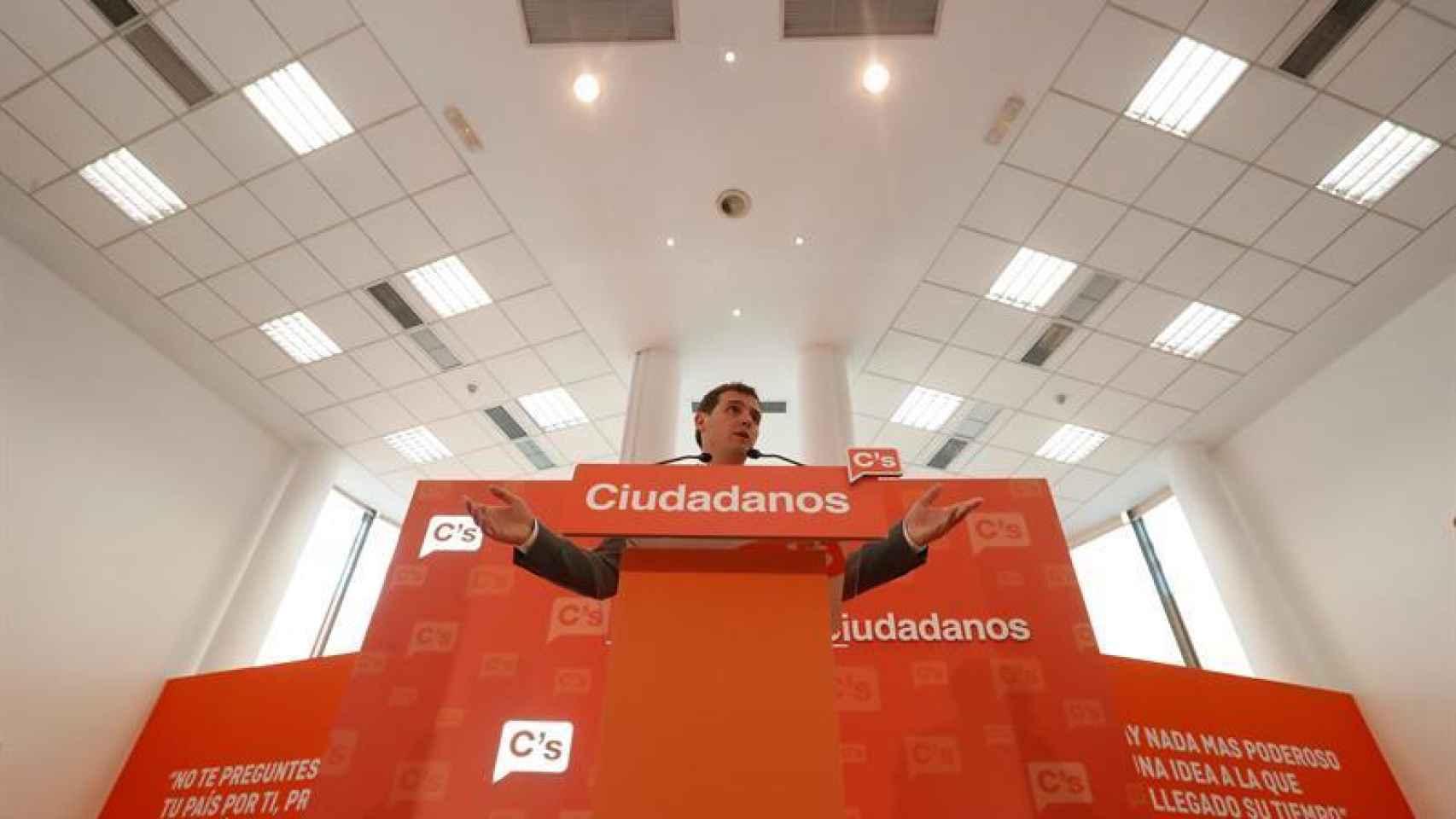 Rivera, tras la ejecutiva de Ciudadanos.