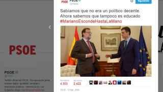 El tuit sobre el fracaso del encuentro Sánchez-Rajoy.