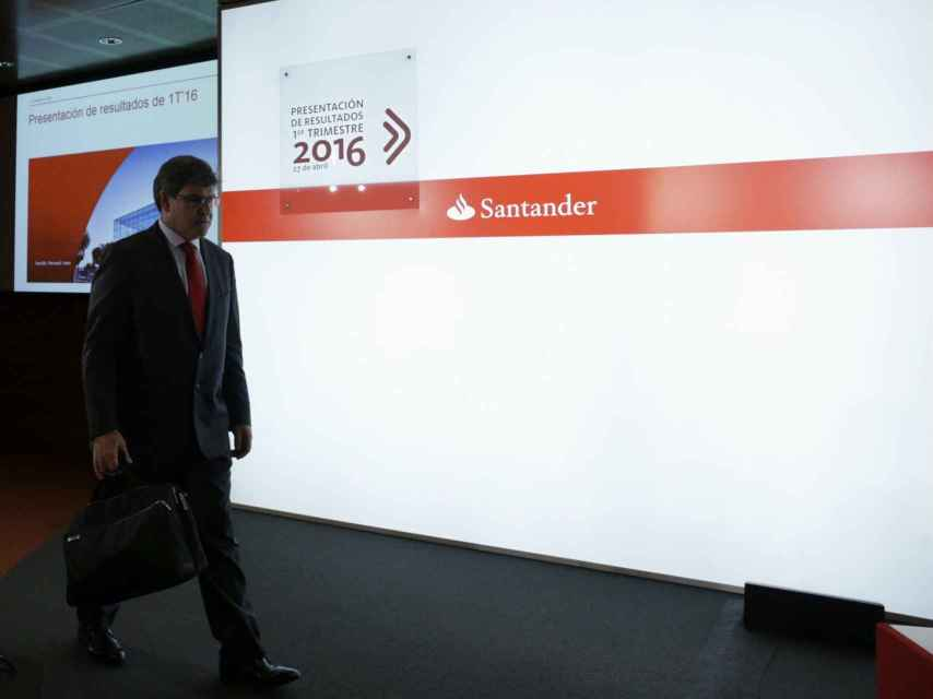 José Antonio Álvarez, consejero delegado del Santander.