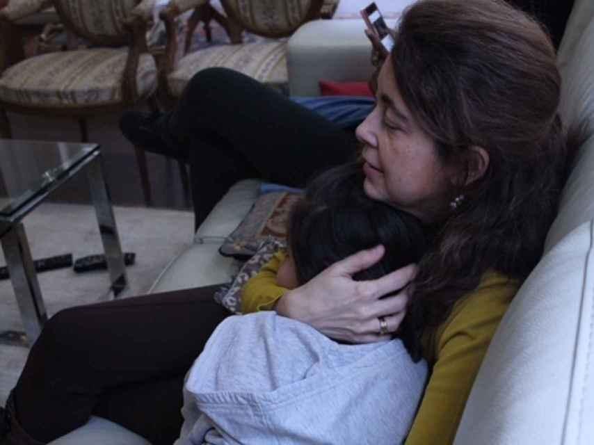 Blanca con su hija Daniela.