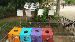 Las urnas depositadas en el parque madrileño