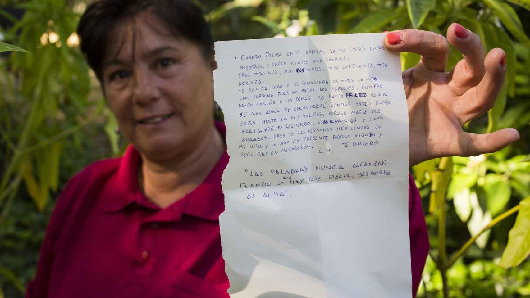 Carmen halló una carta de despedida en los enseres de la víctima