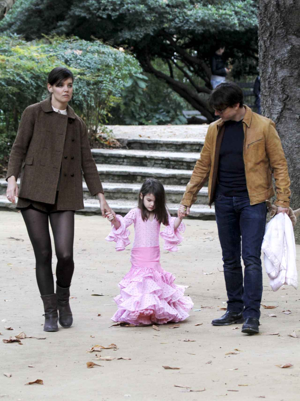 Con sus padres por Sevilla