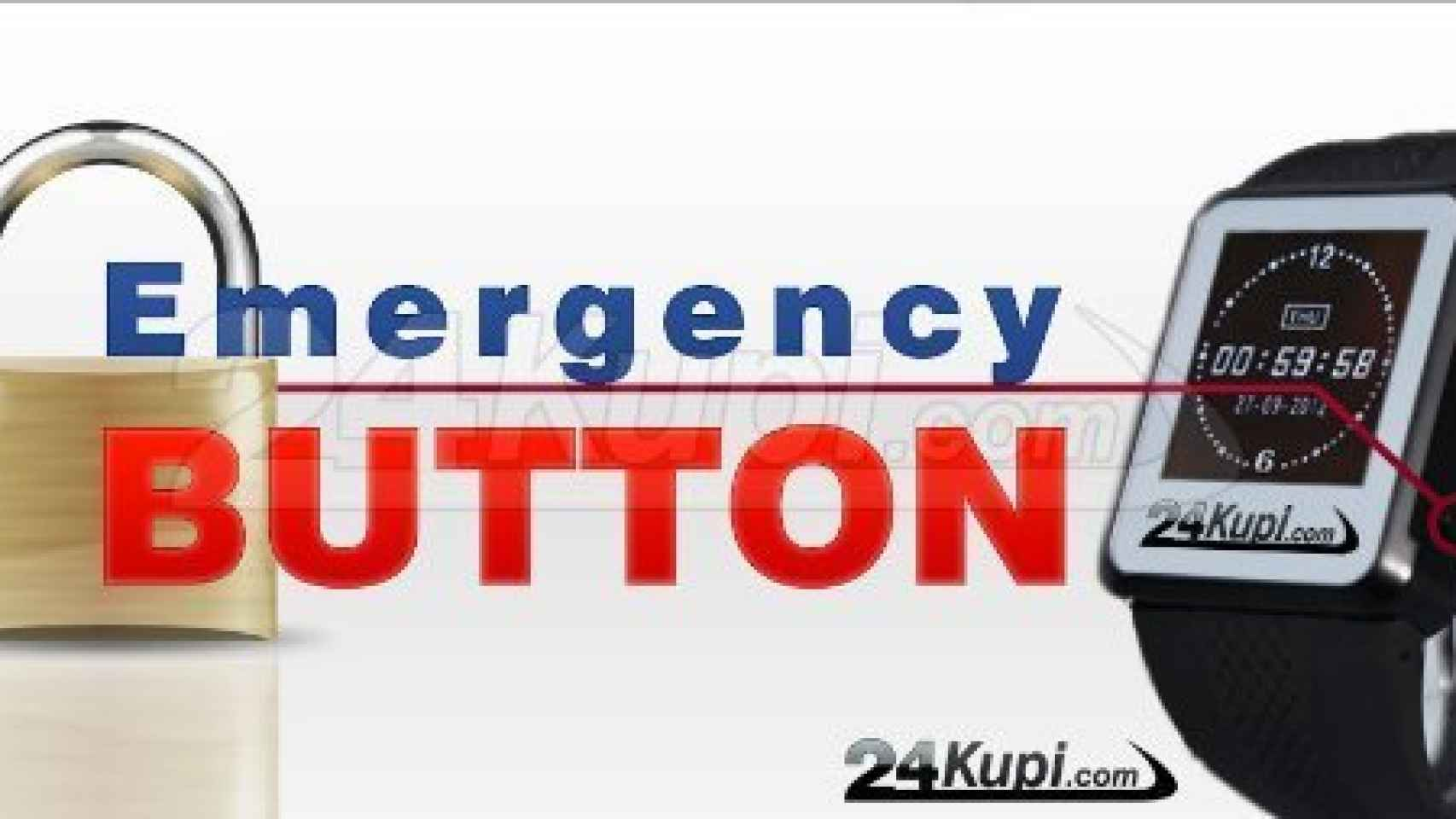 En caso de urgencia, el usuario puede pulsar el botón de alarma.