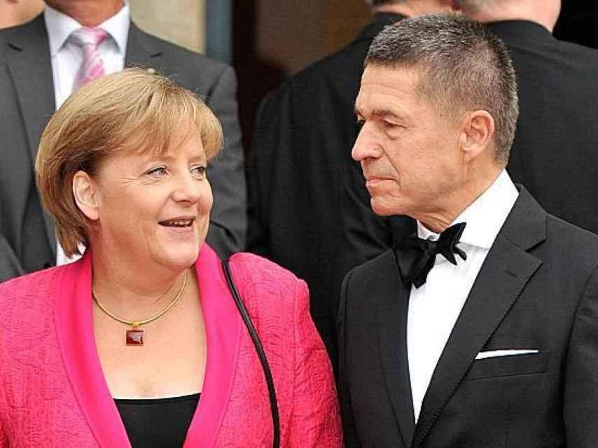 Angela Merkel con su marido Joachim Sauer