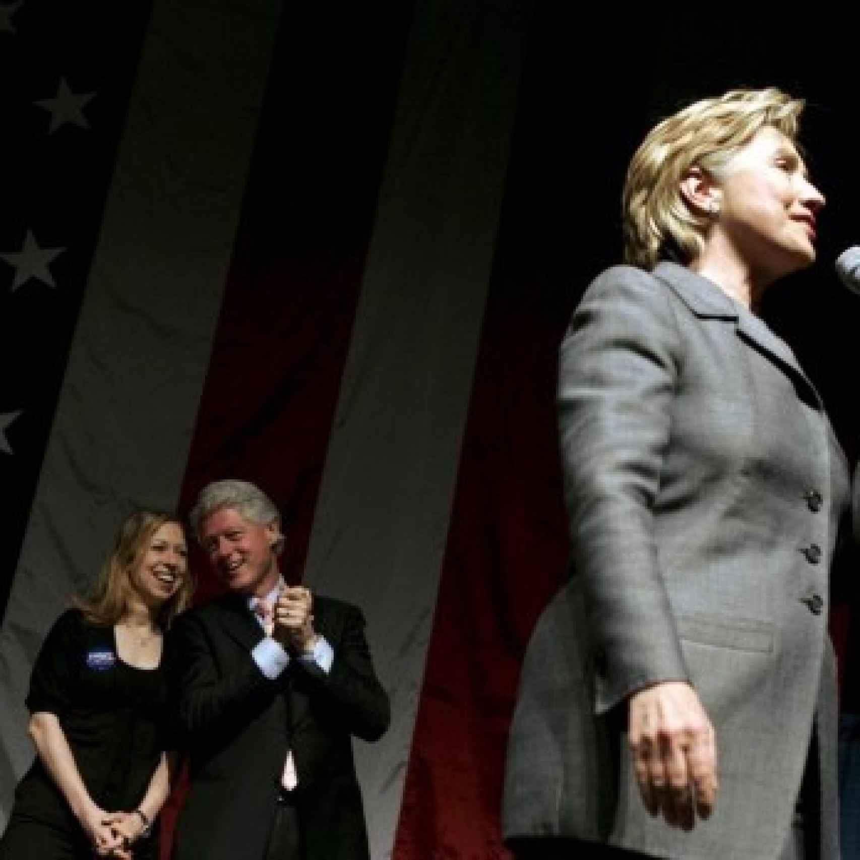 La familia Clinton al completo
