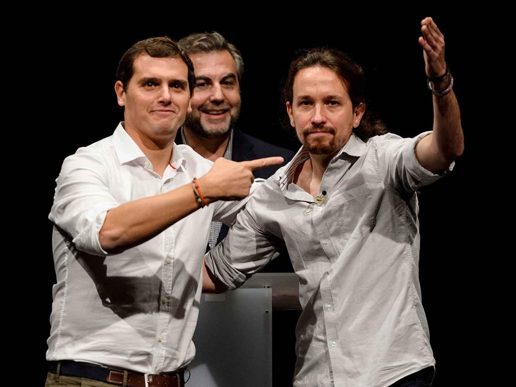 Albert Rivera y Pablo Iglesias en el debate de la Universidad Carlos III