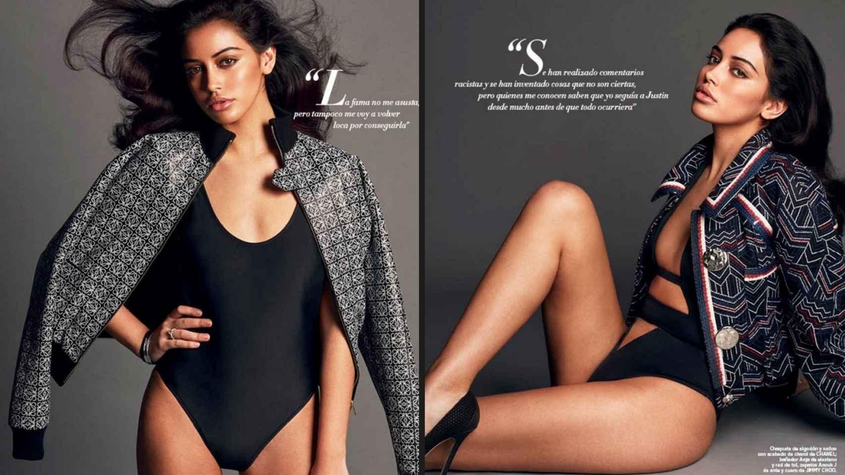 Cindy en el reportaje de Harper´s Bazaar con estilismo de Juan Cebrián