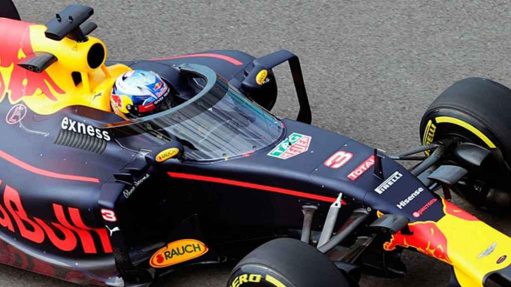Ricciardo prueba el aeroscreen