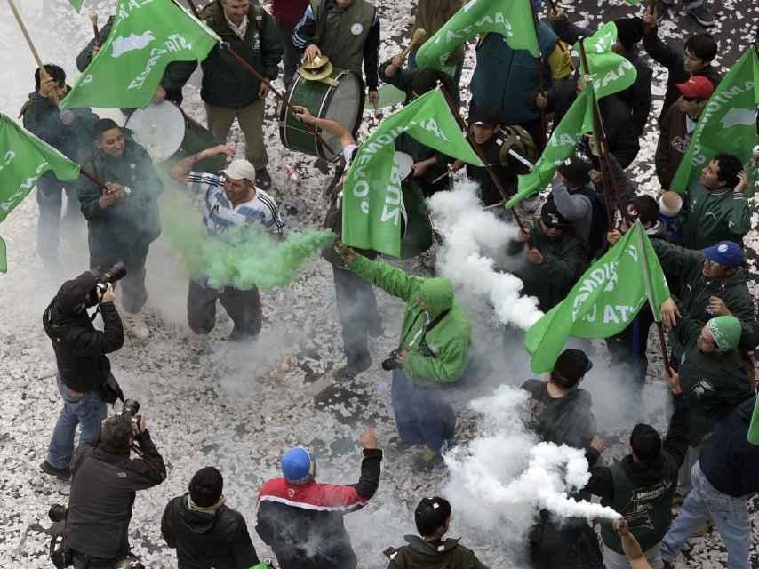 La manifestación de este viernes, en buenos Aires.