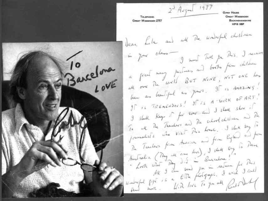 Carta de Roald Dahl a la profesora Lola Casas, de la escuela Camí del Mig (Mataró).