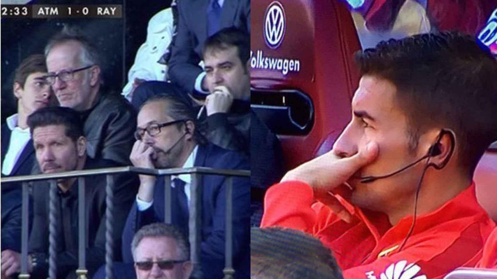 Los pinganillos, protagonistas este sábado en el Atlético de Madrid.