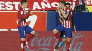 Griezmann celebra su gol ante el Rayo.
