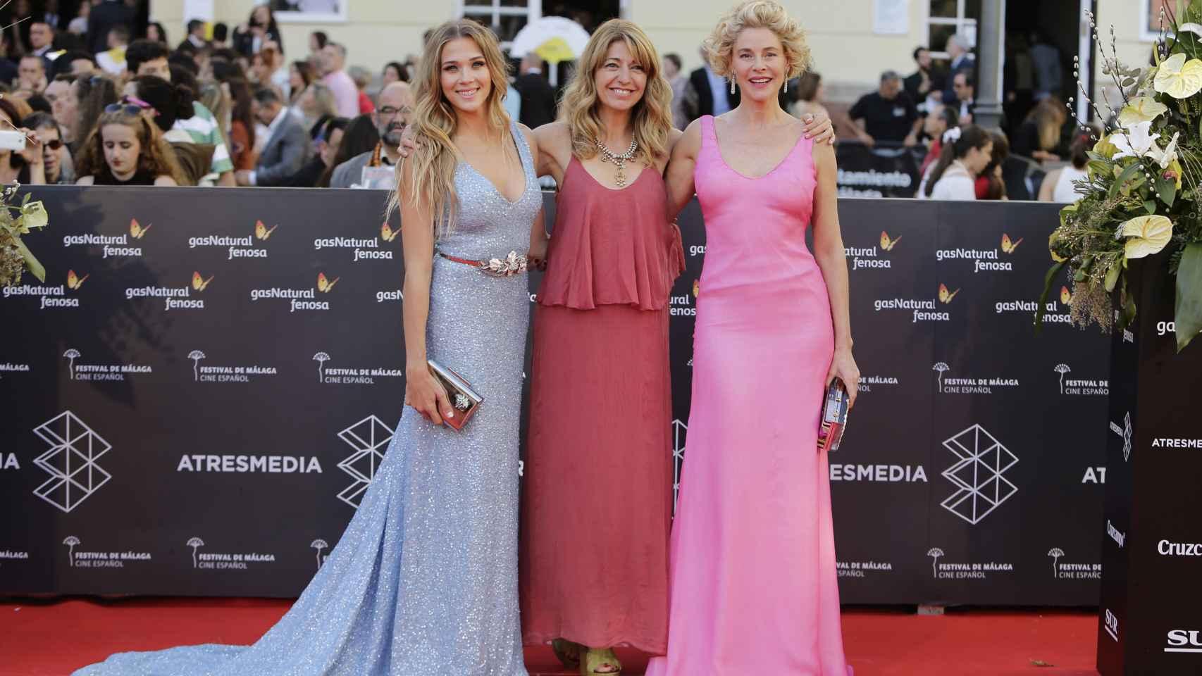 Patricia Montero, Inés París y Belén Rueda en la alfombra roja del Festival