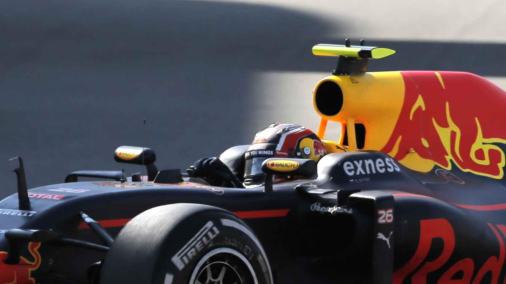 Daniil Kvyat durante el Gran Premio de Rusia.