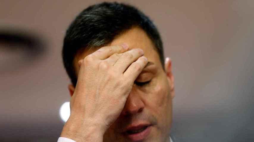 Pedro Sánchez en una de sus últimas comparecencias.