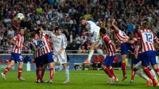 Sergio Ramos le mete el gol en el minuto 93 al Atlético de Madrid.