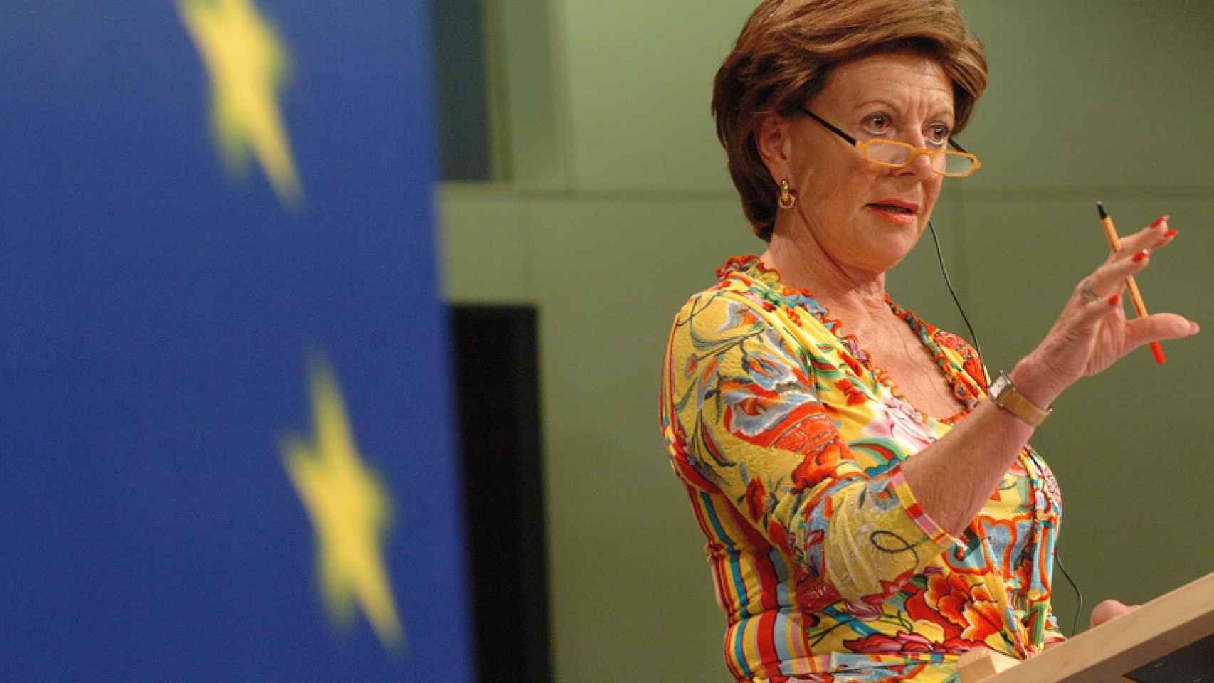 Neelie Kroes fue comisaria de la Agenda Digital.