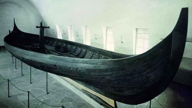 Barco de Gokstad (Museo de Historia Cultural, Universidad de Oslo, Noruega).