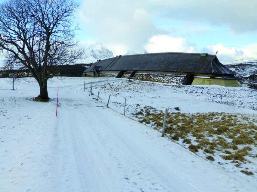Longhouse vikingo en Borg, islas Lofoten (John Haywood).