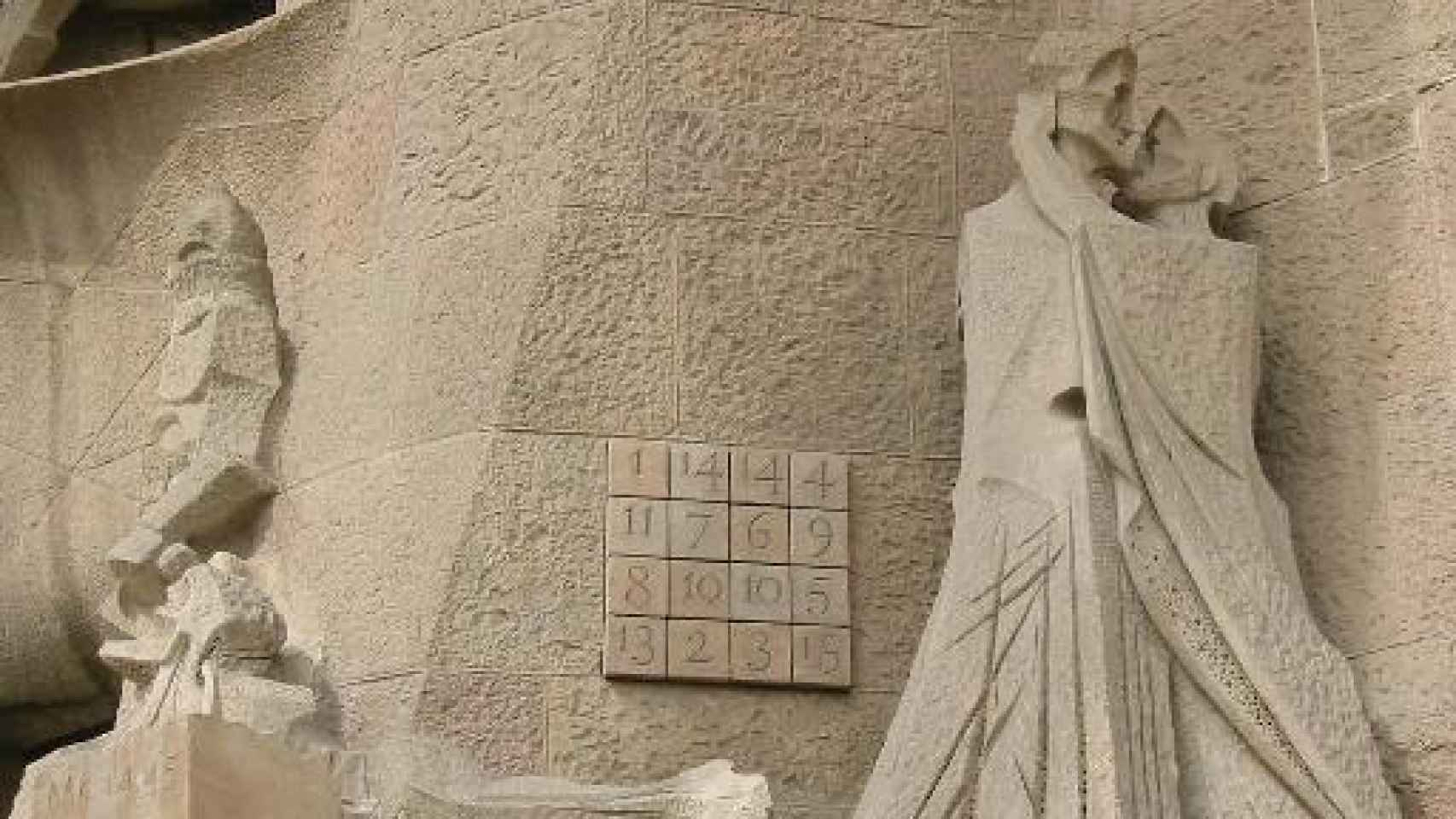 Cuadrado mágico en la Sagrada Familia de Barcelona.