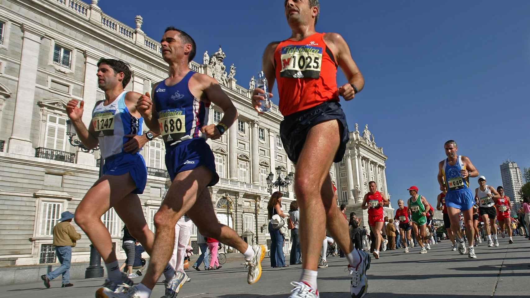 Corredores en la maratón de Madrid