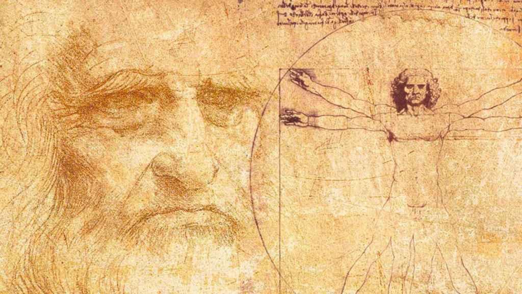 Leonardo da Vinci y el Hombre de Vitruvio.