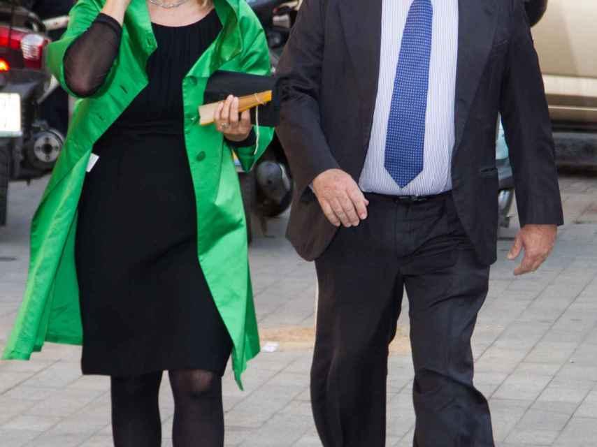 Micaela Domecq junto a su marido Miguel Arias Cañete.