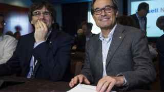 Carles Puigdemont y Artur Mas, el miércoles en el Consejo Nacional de CDC